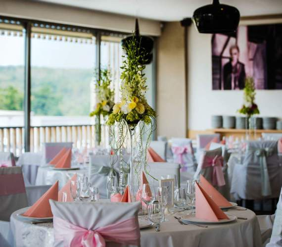 luxusní výzdoba svatební tabule