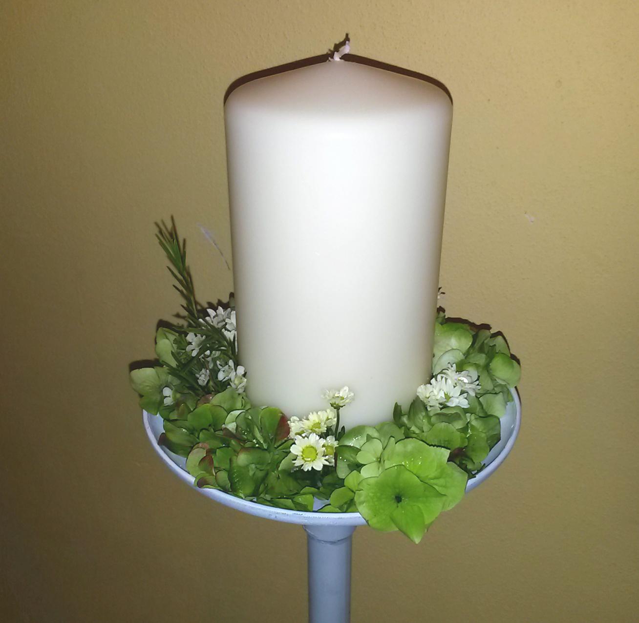 stojánek se svíčkou