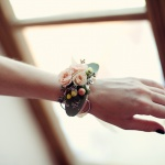 květinový náramek pro svědkyni
