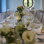 výzdoba svatební tabule krémová