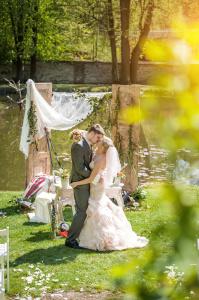 stylová výzdoba svatebního obřadu