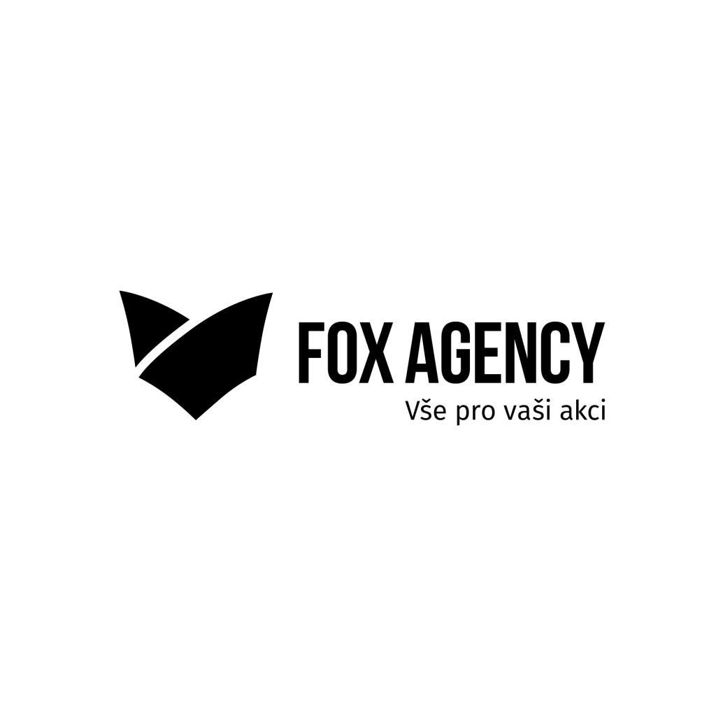 Fox Agency_logo_zakladni horizontalni_slogan_cerne